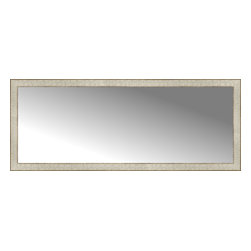 """Posters 2 Prints, LLC - 58"""" x 23"""" Libretto Antique Silver Custom Framed Mirror - 58"""" x 23"""" Custom Framed Mirror made by Posters 2 Prints. Standard glass with unrivaled selection of crafted mirror frames.  Protected with category II safety backing to keep glass fragments together should the mirror be accidentally broken.  Safe arrival guaranteed.  Made in the United States of America"""