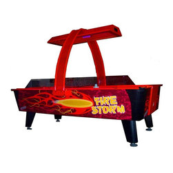 Dynamo - Dynamo 8 ft. Firestorm Air Hockey Table Multicolor - FIRE STORM AIR HOCKEY - Shop for Air Hockey from Hayneedle.com! Bring the arcade experience home - literally - with the Dynamo 8 ft. Firestorm Air Hockey Table. This table the same you've seen in your favorite game spot is the perfect way to liven up a boring rec room or basement. A full-size air hockey table with interactive lights electronic overhead scoring voice and sound effects and more sits inside a brightly colored body. You'll get commercial-quality features like a powerful DynaBlast blower protective side rail shields and heavy-duty no-shake legs. The game's on at your house now! About Valley-DynamoOver the past 50 years Valley-Dynamo has earned its reputation as the producer of the world's highest quality game tables. Exacting standards and a steadfast commitment to customer support have made Valley-Dynamo the top choice for both home and commercial table games. A trusted name across the globe Valley-Dynamo foosball tables air hockey tables and pool tables are chosen more than any other table the world over.