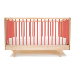 Kalon Studios - Kalon Studios Caravan Crib, Red - Inspired by the storybook circus wagon, the Caravan Crib plays with classic form and contemporary, ultra-bold colors. Thoughtfully considered, the Caravan Crib meets modern parent's needs: