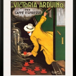 Artcom - Victoria Arduino, 1922 by Leonetto Cappiello - Victoria Arduino, 1922 by Leonetto Cappiello is a Framed Art Print set with a SOHO Black wood frame and a Polar White mat.