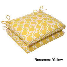 Pillow Perfect 'Rossmere' Outdoor Squared Seat Cushions (Set of 2) | Overstock.c