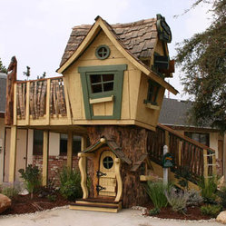 Deluxe Upgraded Tommy's Turbo Terrace - I can't believe the Keebler elves don't live in this playhouse. It's a wonderful, whimsical structure for kids.