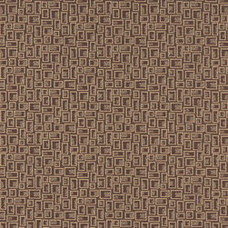 Brown Geometric Rectangles Durable Upholstery Fabric By The Yard - P9535 is great for residential, commercial, automotive and hospitality applications. This contract grade fabric is Teflon coated for superior stain resistance, and is very easy to clean and maintain. This material is perfect for restaurants, offices, residential uses, and automotive upholstery.