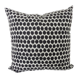 Black Dots Pillow - Black Dots get a modern update with the ikat dyeing technique. You will love how these look on your beach home sofa or chair.