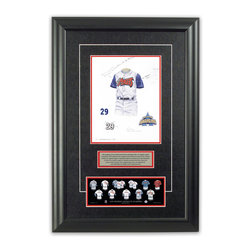 "Heritage Sports Art - Original art of the MLB 1997 Los Angeles Angels of Anaheim uniform - This beautifully framed piece features an original piece of watercolor artwork glass-framed in an attractive two inch wide black resin frame with a double mat. The outer dimensions of the framed piece are approximately 17"" wide x 24.5"" high, although the exact size will vary according to the size of the original piece of art. At the core of the framed piece is the actual piece of original artwork as painted by the artist on textured 100% rag, water-marked watercolor paper. In many cases the original artwork has handwritten notes in pencil from the artist. Simply put, this is beautiful, one-of-a-kind artwork. The outer mat is a rich textured black acid-free mat with a decorative inset white v-groove, while the inner mat is a complimentary colored acid-free mat reflecting one of the team's primary colors. The image of this framed piece shows the mat color that we use (Red). Beneath the artwork is a silver plate with black text describing the original artwork. The text for this piece will read: This original, one-of-a-kind watercolor painting of the 1997 Anaheim Angels (now Los Angeles Angels of Anaheim) uniform is the original artwork that was used in the creation of this Los Angeles Angels of Anaheim uniform evolution print and tens of thousands of other Los Angeles Angels of Anaheim products that have been sold across North America. This original piece of art was painted by artist Bill Band for Maple Leaf Productions Ltd. Beneath the silver plate is a 3"" x 9"" reproduction of a well known, best-selling print that celebrates the history of the team. The print beautifully illustrates the chronological evolution of the team's uniform and shows you how the original art was used in the creation of this print. If you look closely, you will see that the print features the actual artwork being offered for sale. The piece is framed with an extremely high quality framing glass. We have used this glass style for many years with excellent results. We package every piece very carefully in a double layer of bubble wrap and a rigid double-wall cardboard package to avoid breakage at any point during the shipping process, but if damage does occur, we will gladly repair, replace or refund. Please note that all of our products come with a 90 day 100% satisfaction guarantee. Each framed piece also comes with a two page letter signed by Scott Sillcox describing the history behind the art. If there was an extra-special story about your piece of art, that story will be included in the letter. When you receive your framed piece, you should find the letter lightly attached to the front of the framed piece. If you have any questions, at any time, about the actual artwork or about any of the artist's handwritten notes on the artwork, I would love to tell you about them. After placing your order, please click the ""Contact Seller"" button to message me and I will tell you everything I can about your original piece of art. The artists and I spent well over ten years of our lives creating these pieces of original artwork, and in many cases there are stories I can tell you about your actual piece of artwork that might add an extra element of interest in your one-of-a-kind purchase."
