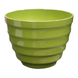 Alpine Fountains - Large 20 in. Rippled Planter in Light Green - Made of Plastic. 1 Year Limited Warranty. Assembly Required. Overall Dimensions: 20 in. L x 20 in. W x 15 in. H (6.6 lbs)These rippled bowl planters are perfect for patios and decks.  Available in a variety of sizes and colors they can meet any need, or taste and are very durable.