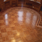 """Union Block Parquet - Union block parquet also called """"fingerblock"""" can be made in variety of woods. Pre-assembled  are solid wood, typically 9x9 or 12x12 blocks."""