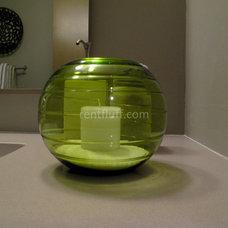Contemporary Bathroom by Flüff Designs & Decor