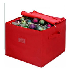 Innovative Home Creations - Innovative Home Creations Christmas Ornament Storage Box - Three layer box stores up to 75 ornaments