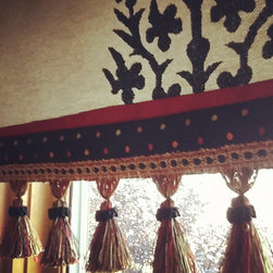 Roman Shades - Remade curtain panels into Roman Shades.  JDuce Design