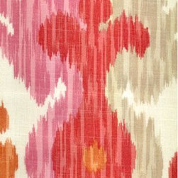 Journey Ikat Fabric, Pink/Orange - Vibrant and warm, this unique ikat balances the perfect amount of masculinity and femininity. In fact, I just ordered a swatch — it's that perfect.