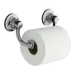 """Kohler - Kohler K-11415-BN Brushed Nickel Bancroft Bancroft Double Post Toilet - Bancroft(R) toilet tissue holder Bancroft(R) accessories portray a traditional aesthetic that complements the entire Bancroft Suite of products and lends elegance to any bath or powder room. This toilet tissue holder, available in a Polished Chrome finish that provides exceptional durability and beauty, allows you to coordinate your décor down to the last detail.  8-1/2""""W x 3-9/16""""D x 3-3/4""""H Coordinates perfectly with Bancroft fixtures and faucets Premium metal construction for durability and reliability Tools and drilling template included for easy installation"""