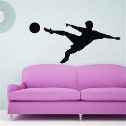 ColorfulHall Co., LTD - Football Player Ball Sports And Hobbies Wall Sticker Football Wall Decals - Football Player Ball Sports and Hobbies Wall Sticker Football Wall Decals