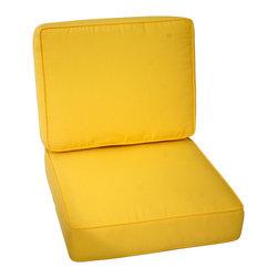 Trijaya Living - Sunbrella Outdoor Universal Patio Furniture Club Chair Cushions, Butter Cup - Sunbrella Outdoor Universal Patio Furniture Club Chair Cushions