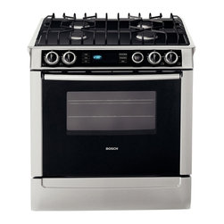 "Bosch 30"" Dual Fuel Slide-in Range, Stainless Steel 