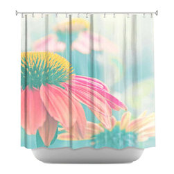 DiaNoche Designs - Shower Curtain Artistic - Heart of Summer - DiaNoche Designs works with artists from around the world to bring unique, artistic products to decorate all aspects of your home.  Our designer Shower Curtains will be the talk of every guest to visit your bathroom!  Our Shower Curtains have Sewn reinforced holes for curtain rings, Shower Curtain Rings Not Included.  Dye Sublimation printing adheres the ink to the material for long life and durability. Machine Wash upon arrival for maximum softness. Made in USA.  Shower Curtain Rings Not Included.