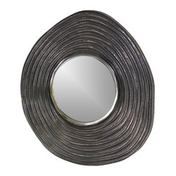Zodax - Zodax Mauritius Raw Aluminum Wave Wall Mirror - Zodax - Accent Mirrors - IN5142 - Mauritius Raw Aluminum Wave Wall Mirror