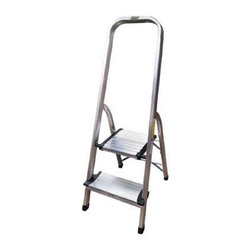 Coleman Living - Coleman 2 Step Aluminum Ladder - CL 2-Step Aluminum Ladder with wide steps. Silver Lightweight and durable frame
