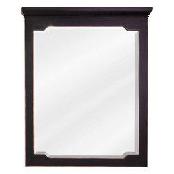 """Hardware Resources - Jeffrey Alexander Mirror - Aged Black - Mirror by Jeffrey Alexander. 28"""" x 34"""" Aged Black mirror with beveled glass . Corresponds with VAN093-24, VAN093-24-T, VAN093-30, VAN093-30-T, VAN093-36, VAN093-36-T"""