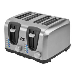 Kalorik - High-tech Toaster, 4 Slice - Seems like this toaster can pretty much do it all. From bagels to frozen bread, you can count on the perfect bit of crunch. And the stainless steel design means it's going to look great on your counter, too!