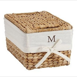 Savannah/Havana Lidded Small Basket Liner, Ivory - Our pure cotton ivory liners make it easy to tote laundry, recyclables or other around-the-house items from your baskets to their destination, all while keeping your baskets nice and clean. Woven of pure cotton. Machine wash. Catalog / Internet only. Imported.