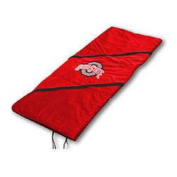 Sports Coverage - NCAA Ohio State Buckeyes MVP Sleeping Bag - Features: