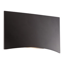 """CSL - Deep Bronze 4 1/2"""" Wide LED Step Light - This minimalist modern design LED step light features a deep bronze finish horizontal mount rectangle face of die cast aluminum. Light from the included LED is directed downward out the curved bottom illuminating a step or as an accent guide light along a pathway. Wet location rating means this fixture can be used outdoors. Fits over a standard single switch box. Line voltage. By Creative Systems Lighting. Die cast aluminum step light. Deep bronze finish. Wet location rated for outdoor use. Includes one 3 watt LED. Color temperature is 2850K. 2 1/2"""" high. 4 3/4"""" wide. Extends 1/2"""".  Die cast aluminum step light.   Deep bronze finish.   Wet location rated for outdoor use.   Includes one 3 watt LED.   Color temperature is 2850K.   Line voltage.  2 1/2"""" high.   4 3/4"""" wide.   Extends 1/2""""."""