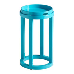 Contemporary Turquoise Tray Table - *Marcella Tray Table