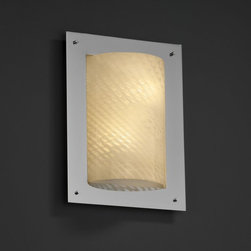 Justice Design Group LLC - Justice Design Group FSN-5563 - Framed Rectangle 4-Sided Wall Sconce (ADA) - Pol - Shop for Wall Mounted Lighting and Sconces from Hayneedle.com! About Justice DesignEndless inimitable lighting that's what Justice Design deals in. More than 200 different shapes. More than 35 different finishes. That's a huge amount of customization -- right at your fingertips. Speaking of fingertips each fixture is painstakingly crafted by skilled artisans by hand. Whether you're looking for indoor or outdoor lighting residential or commercial Justice Design is sure to have just the right fixture to match your needs and personality.