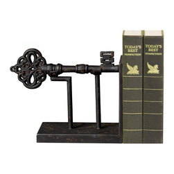 Sterling Industries - Antique Reporduction Key Book End - Antique Reporduction Key Book End