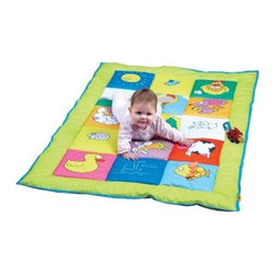 Edushape Double Sided Baby Mat - The Edushape Double Sided Baby Mat is a large play mat that is perfect for some good old fashioned tummy time. With a soft mirror and a squeaker, this two-sided mat will be your baby's new favorite.About EdushapeEstablished in 1983, Edushape is a family-owned and -operated company with a focus on manufacturing quality children's toys and products. Edushape is committed to producing soft, safe, quality children's toys that promote successful developmental learning through play.