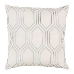 """Kathy Kuo Home - Sylvia Hollywood Regency Linen Down Ivory Pillow - 20"""" x 20"""" - * 20 inches high x 20 inches wide"""
