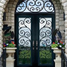 Mediterranean Front Doors by GlassCraft Door Company