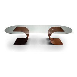 CARLOVI dining table - Natural rusted Cor-ten steel.