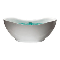 "AKDY - AKDY AK-ZF772 Europe Style White Acrylic Free Standing Bathtub, 67"" - AKDY free standing acrylic bathtubs come in many styles, shapes, and designs. The acrylic material used for tubs is very durable, light weight, and can be molded into a variety of shapes and styles which explain the large selection available in this product category. Acrylic free standing tubs are a cost efficient way to give your bathroom a unique beautiful touch. A bathtub is no longer just a piece of cast iron metal thrown into a bathroom by a builder."