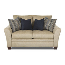 None - Powell Sandstone Loveseat - Bring a sense of elegance to your living space with the charming Powell Sandstone Loveseat. With its gorgeous style,this loveseat does not sacrifice comfort for fashion.