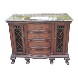 """EuroLux Home - New 48"""" Single Sink Chest Brown/Beige/Tan - Product Details"""