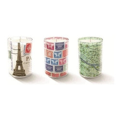 Fringe Studio - Studio Mini Kim Paris Candles, Set of 3 - Simple, sleek and tres chic, this candle trio features images of Paris that cannot help but make you smile. Perfect as a gift — or keep for yourself to add a French accent to your favorite setting.