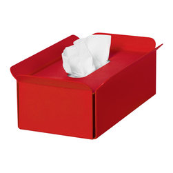 WS Bath Collections - Tissue Box in Red - Modern/contemporary design. Designer high end quality. Warranty: One year. Made from powder coated aluminum. Made in Italy. No assembly required. 11 in. L x 6.3 in. W x 3.5 in. H (2 lbs.). Spec SheetUnique and fine bath accessories and complements, that provide inspirational solutions for every decor.