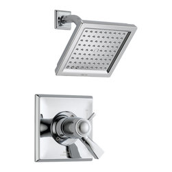 Delta - Dryden TempAssure 17T Series Thermostatic Shower Trim - Delta T17T251 Dryden TempAssure 17T Series Thermostatic Shower Trim with Volume Control and Raincan Showerhead in Chrome.