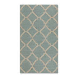 Uttermost - Bermuda 9 x 12 Rug - Baby Blue - Woven wool in baby blue with natural striations.