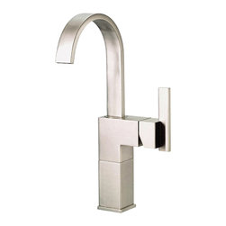 """Danze - Danze D201544BN Brushed Nickel Vessel Filler One Handle - Danze D201544BN Single Handle Vessel Filler is part of the Sirius collection.  D201544BN Single hole mount has a 5 1/2"""" long and 13"""" high swivel spout, with natural water stream.  Includes metal grid strainer drain with cover for vessels with or without overflow.  D201544BN meets all requirements of ADA, California and Vermont compliant."""
