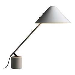 Carl Hansen & Son - Pandul Swing Vip Task Light White Shade, by Carl Hansen - The right light makes any job easier — and something stylish at your workstation is bound to be inspirational. This lean lamp, the work of renowned Danish modern designer Jorgen Gammelgaard, brings unparalleled distinction to your desk.