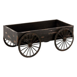 Benzara - Wood Decor Cart in Light Grey Background with Royalty Look - Blending royalty with beauty , this 7 in. H Wood Decor Cart in Light Grey Background with Royalty Look is the perfect home decorative item. You may get the best art item to enhance your sophisticated home decor with this wonderful wood decor art that showcases a marvelous appeal. You can feel a peculiar change in the room with its soft texture displayed on a light grey background that represents a look of royalty. The attractive look is enhanced to the next level with the rust accent that is featured in this art decor. It is ideal to be used in the living area with designer furniture and other decor accessories. The decorated design will surely enhance your decor with grace and panache. It is made with wood of the highest quality that ensures long lasting performance at all times.