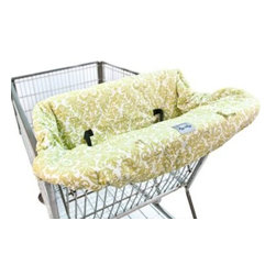 Itzy Ritzy - Itzy Ritzy Ritzy Sitzy Shopping Cart& High Chair Cover in Avocado Damask - Help protect your baby from germs with the Ritzy Sitzy Cover. Comfortable, clean and stylish, this 100% cotton cover is padded and reversible to extend product life.