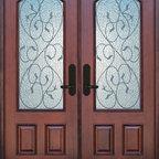 BGW - Valencia Double Doors - Mahogany
