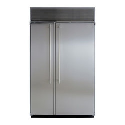 """Marvel - M48SSSS 48"""" Side-by-Side Single Cabinet Refrigerator with Full Extension Clear C - The new AGA MARVEL Professional Series of premium appliances is an amazing marriage of European cooking performance and the elegant smart design found in todays most striking kitchens By combining the best of AGAs professional catering heritage and M..."""