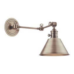 Hudson Valley Lighting - Hudson Valley Lighting 8322-AN Garden City 1 Light Wall Sconces in Antique Nicke - This 1 light Wall Sconce from the Garden City collection by Hudson Valley Lighting will enhance your home with a perfect mix of form and function. The features include a Antique Nickel finish applied by experts. This item qualifies for free shipping!