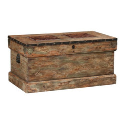 Rebecca Trunk - This trunk will be perfect in my living room as a coffee table and storage for extra blankets and pillows.