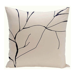 e by design - Branches Off-White and Black 20-Inch Cotton Decorative Pillow - - Decorate and personalize your home with coastal cotton pillows that embody color and style from e by design  - Fill Material: Synthetic down  - Closure: Concealed Zipper  - Care Instructions: Spot clean recommended  - Made in USA e by design - CPO-NR12-Original-20
